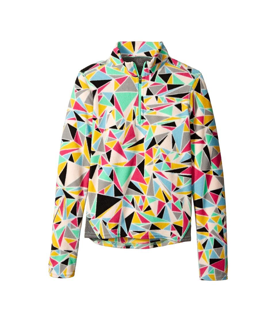 Hot Chillys Kids - La Montana Print Zip Top (Little Kid/Big Kid) (Shatter Prism/Granite) Kid's Long Sleeve Pullover
