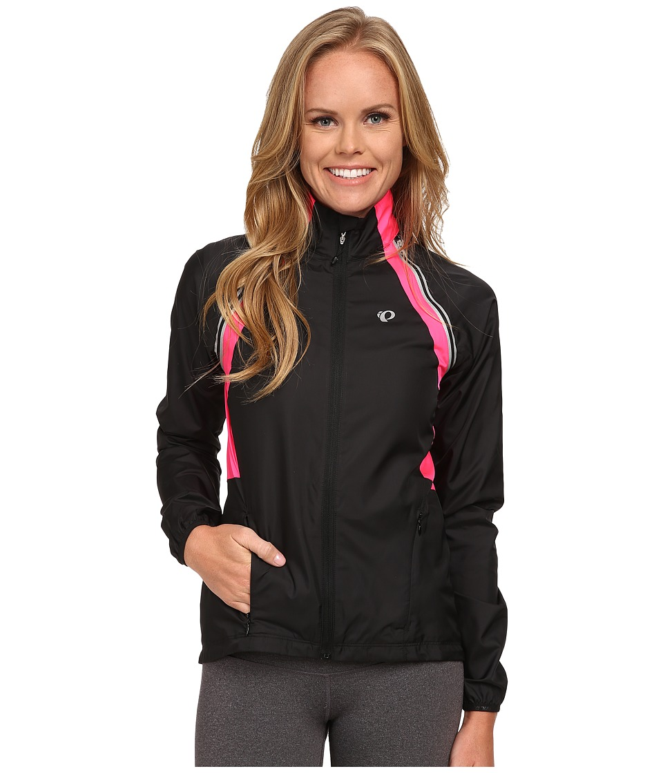 Pearl Izumi - W Elite Barrier Convertible Cycling Jacket (Black/Screaming Yellow/Screaming Pink) Women's Workout