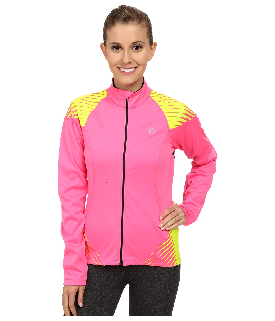 Pearl Izumi - W Elite Softshell 180 Cycling Jacket (Screaming Pink/Screaming Yellow) Women's Workout