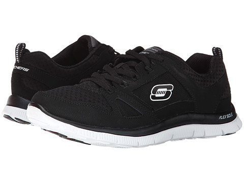 SKECHERS - Adaptable (Black/White) Women's Lace up casual Shoes