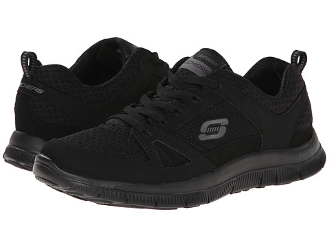 SKECHERS - Adaptable (Black) Women's Lace up casual Shoes