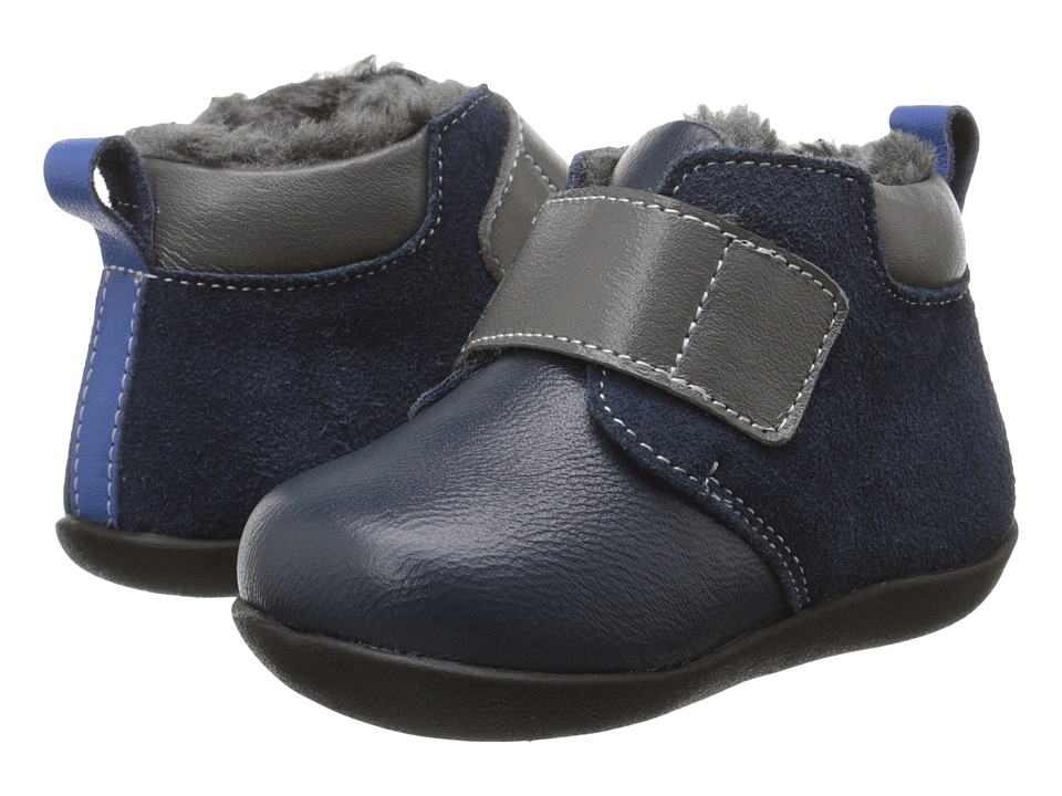 See Kai Run Kids - Sanju II (Infant/Toddler) (Navy) Boy's Shoes