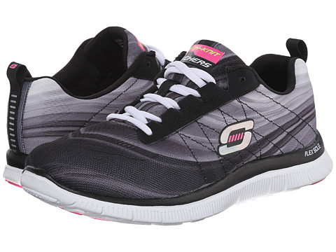 SKECHERS - Pretty Please (Black White) Women's Shoes
