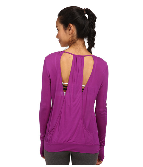 ALO - Smoke Long Sleeve Top (Amethyst) Women