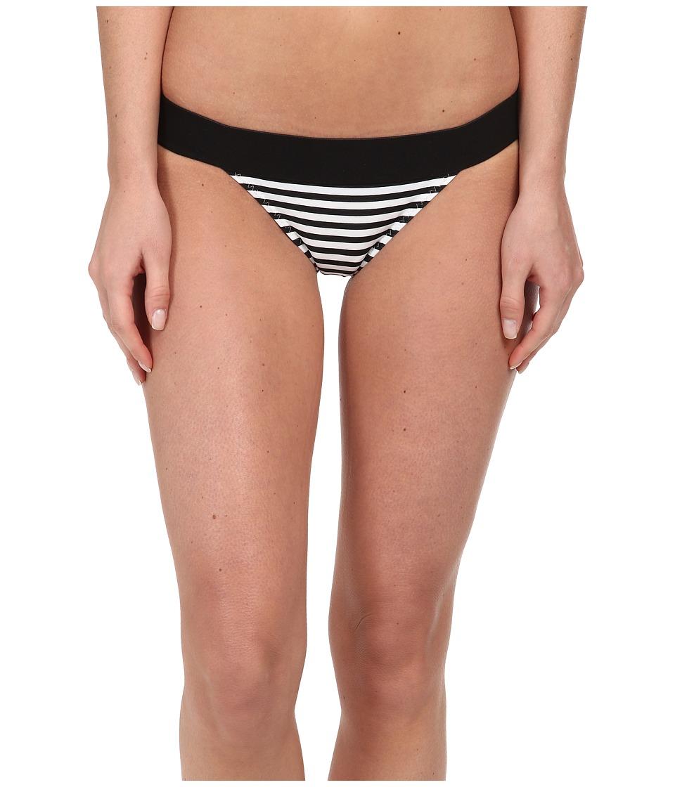 KAMALIKULTURE by Norma Kamali - Banded Bottom (Black/Off White Stripe) Women's Swimwear