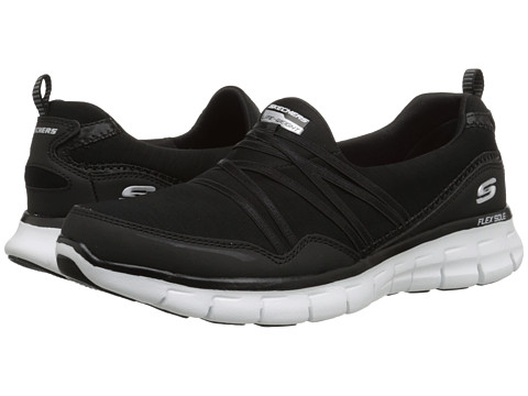 SKECHERS - Synergy - Scene Stealer (Black White) Women's Shoes