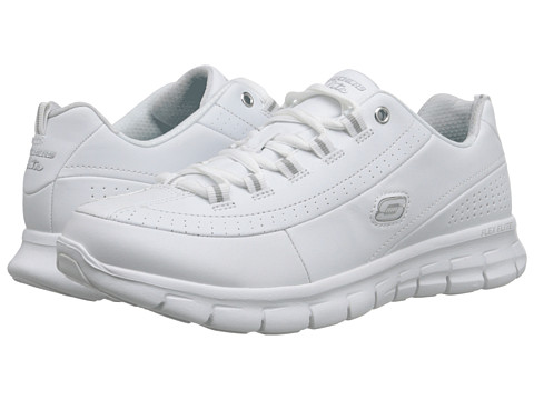 SKECHERS - Synergy - Elite Caliber (White) Women's Shoes