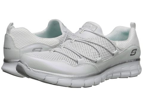 SKECHERS - Synergy - Sparkle Shine (White) Women's Shoes