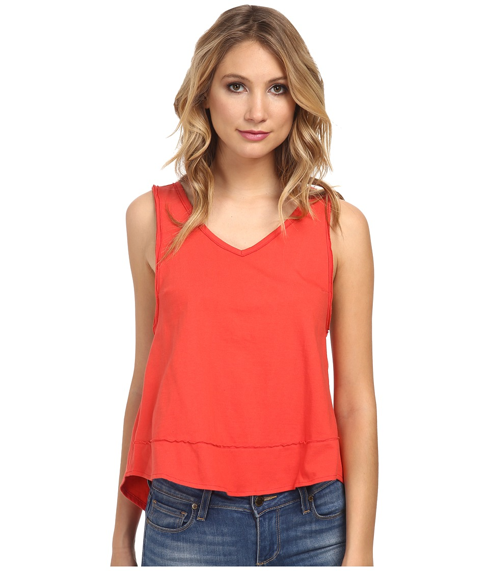 Free People - Cupcake Jersey Toying Around Tank Top (Red Orange) Women