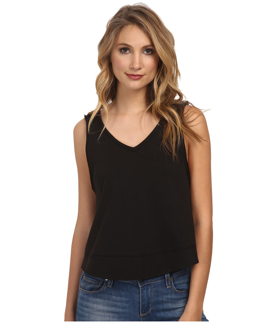 Free People - Cupcake Jersey Toying Around Tank Top (Black) Women's Sleeveless