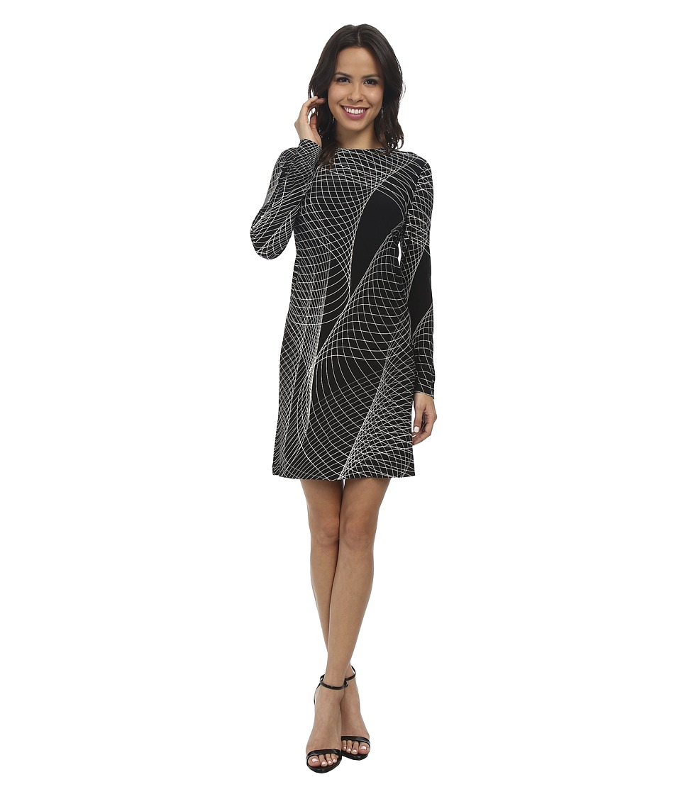 KAMALIKULTURE by Norma Kamali - Long Sleeve Easy Dress (Electric Sound) Women's Dress