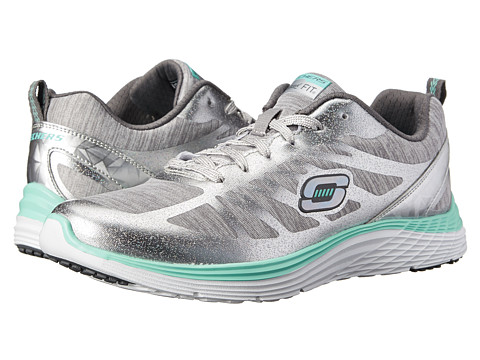 SKECHERS - Valeris - Great One (Sliver Gray) Women's Shoes