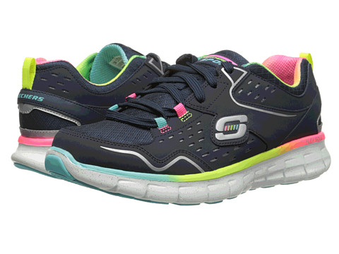 SKECHERS - Synergy - Cutouts (Navy Mint) Women