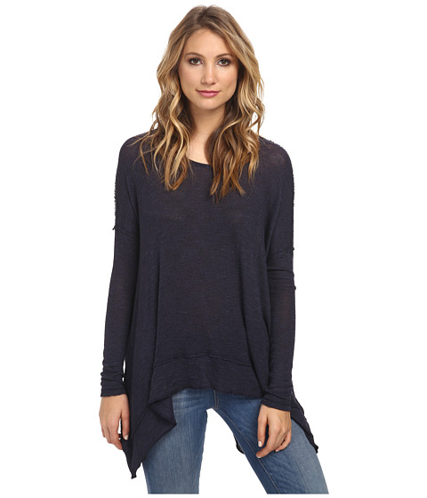 Free People - Chasing You Shadow Hacci (Navy) Women's Clothing