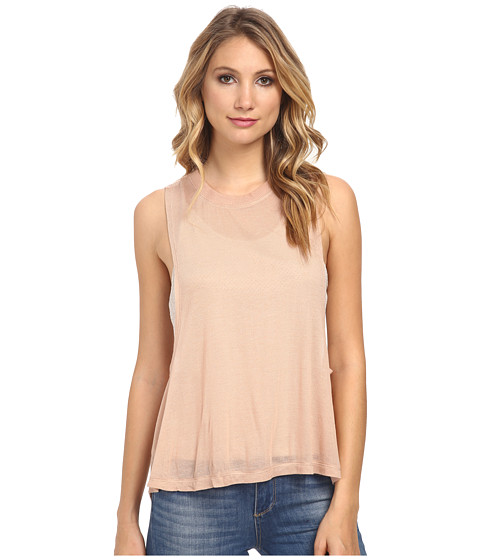 Free People - Tencel Jersey Twist Back Tank Top (Peach Combo) Women's Sleeveless