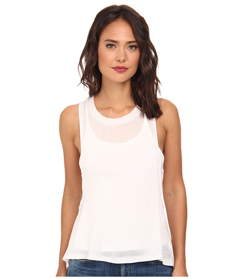 Free People - Tencel Jersey Twist Back Tank Top (Ivory Combo) Women's Sleeveless
