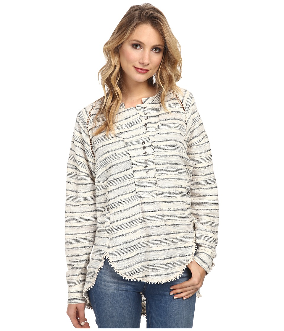 Free People - Hideaway Henley (Natural Combo) Women's Blouse