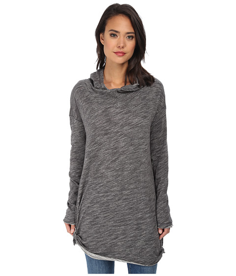 Free People - In A Hurry Hoodie (Charcoal) Women's Sweatshirt