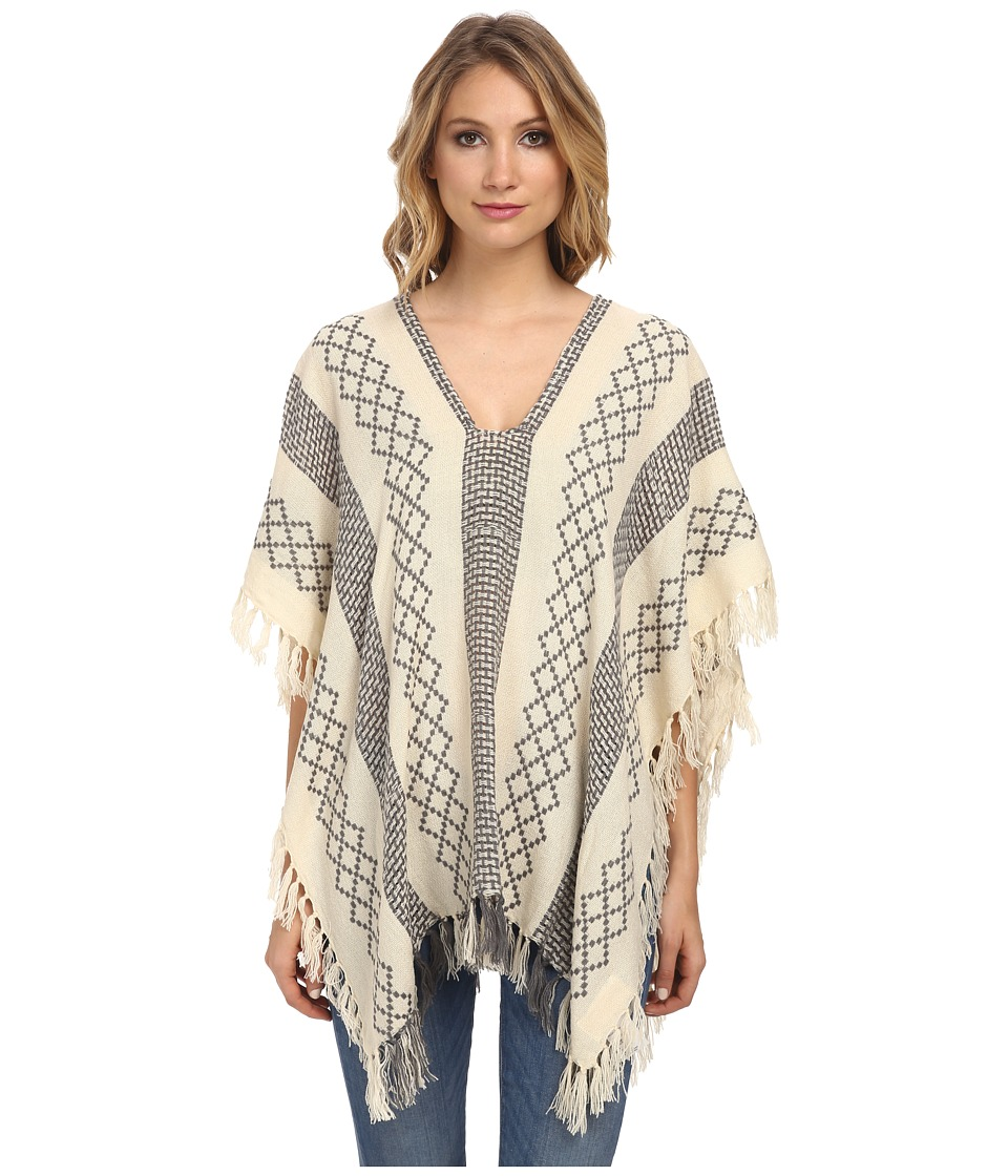 Free People - Weave Pattern Poncho (Ivory Combo) Women's Blouse