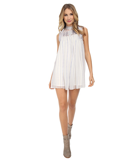 Free People - Printed Penny Georgette Babylon Dress (Ivory Combo) Women's Dress