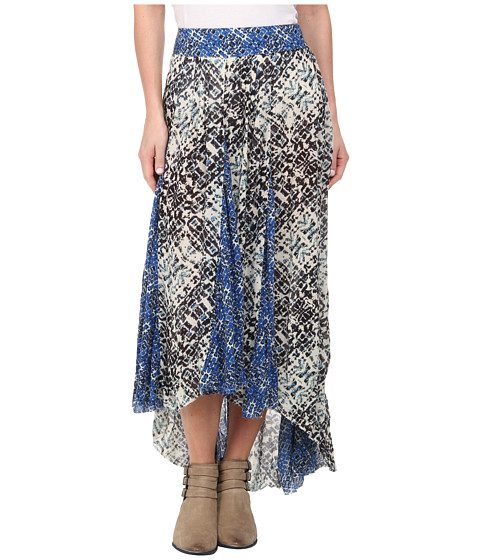 Free People - Printed Rayon Gauze Show You Off Skirt (Ivory Combo) Women
