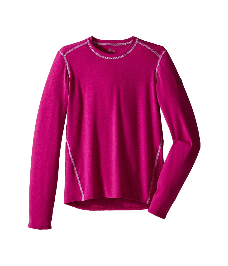 Hot Chillys Kids - Original 2 Crew Neck (Little Kids/Big Kids) (Candyland Plum) Girl's Clothing
