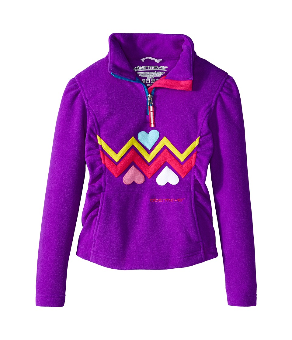Obermeyer Kids - Ric-Rac Fleece Top (Toddler/Little Kids/Big Kids) (Iris Purple) Girl's Fleece
