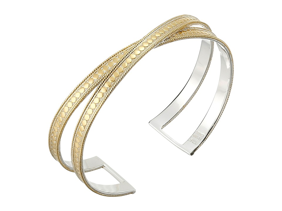 Anna Beck - X Cuff Bracelet (Sterling Silver/18K Gold Vermeil) Bracelet
