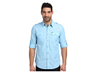 Long Sleeve Roll Tab End On End Shirt-Casual Wash