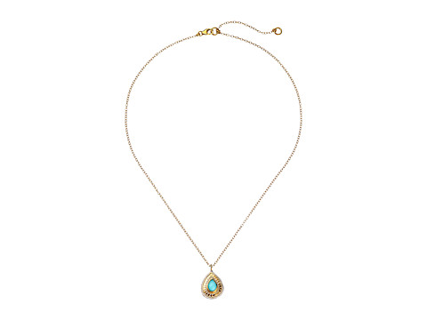 Anna Beck - Turquoise Necklace w/ Teardrop Pendant (Sterling Silver/18K Gold Vermeil) Necklace