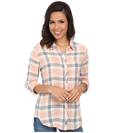 C&C California - Split Back Plaid Shirt (Seashell Pink) Women