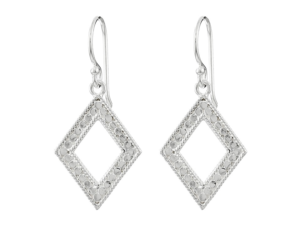 Anna Beck - Diamond Drop Earrings (Sterling Silver) Earring