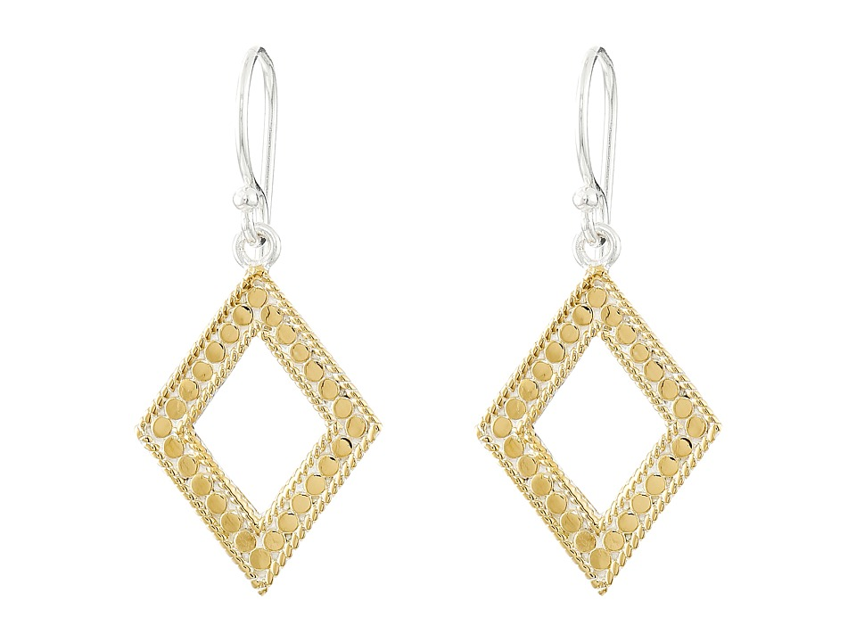 Anna Beck - Diamond Drop Earrings (Sterling Silver/18K Gold Vermeil) Earring