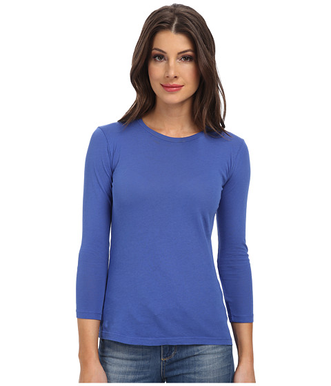 C&C California - 3/4 Sleeve Vintage Tee (Dazzling Blue) Women