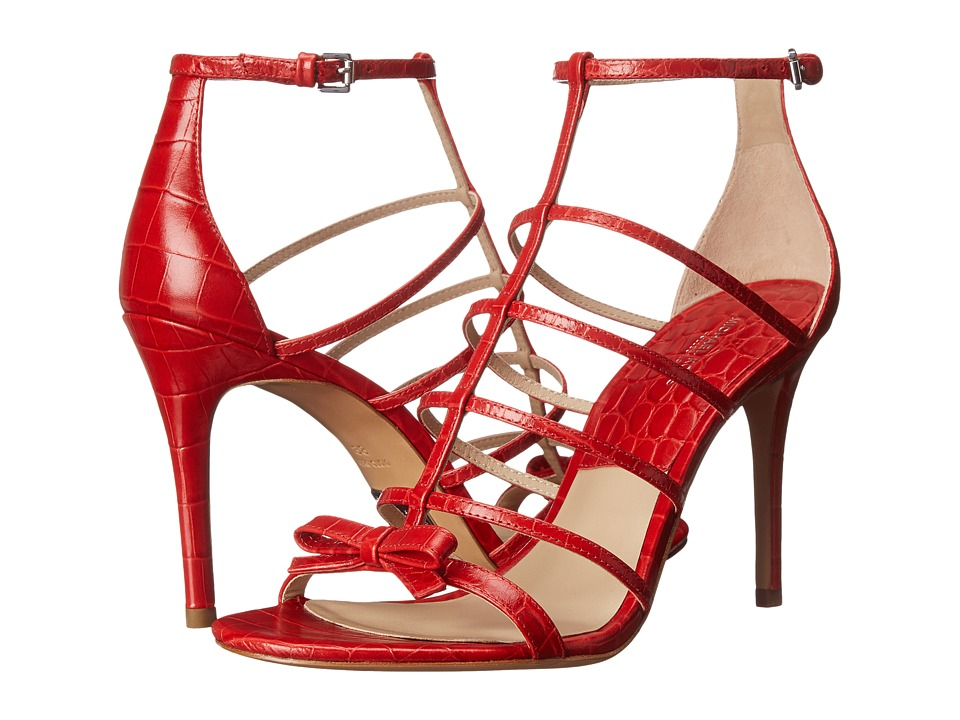 Michael Kors - Blythe (Crimson Embossed Croco Shiny) High Heels