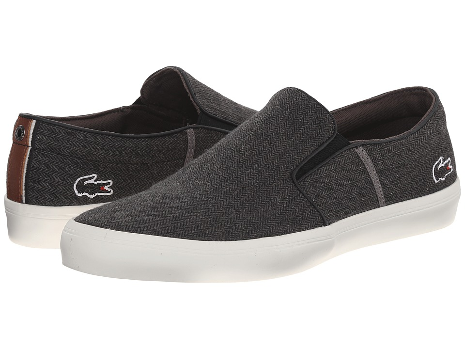 Lacoste - Gazon 6 (Dark Grey) Men's Slip on Shoes