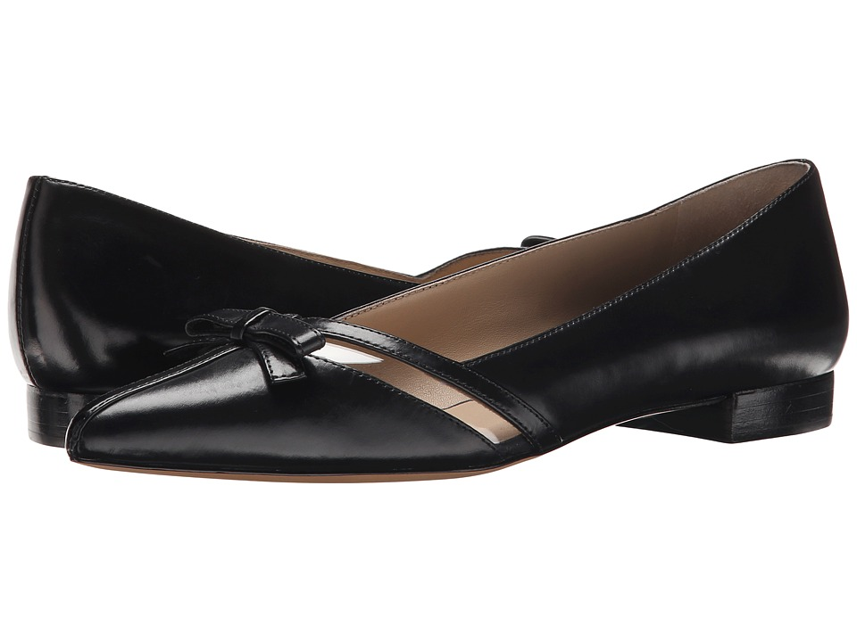 Michael Kors - Joey (Black Smooth Calf/Vinyl) Women's Slip on Shoes