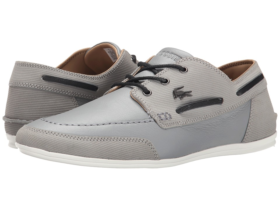 Lacoste - Misano Boat 5 (Grey) Men's Lace up casual Shoes