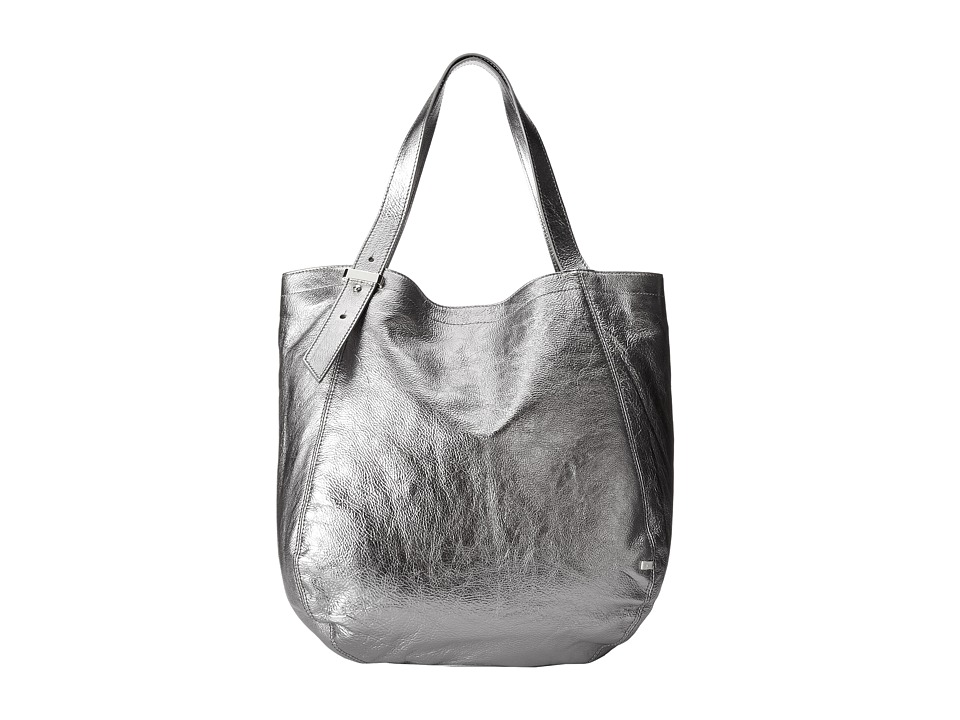 SJP by Sarah Jessica Parker - Bank (Steel Metallic Leather) Tote Handbags