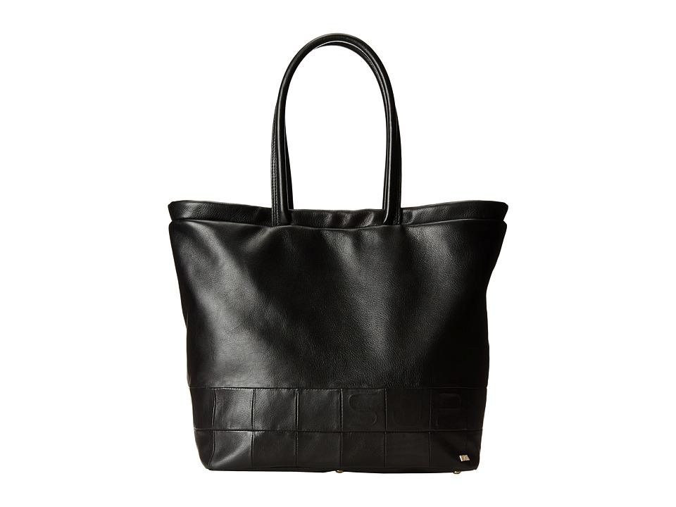SJP by Sarah Jessica Parker - Greenwich (Black Leather) Tote Handbags