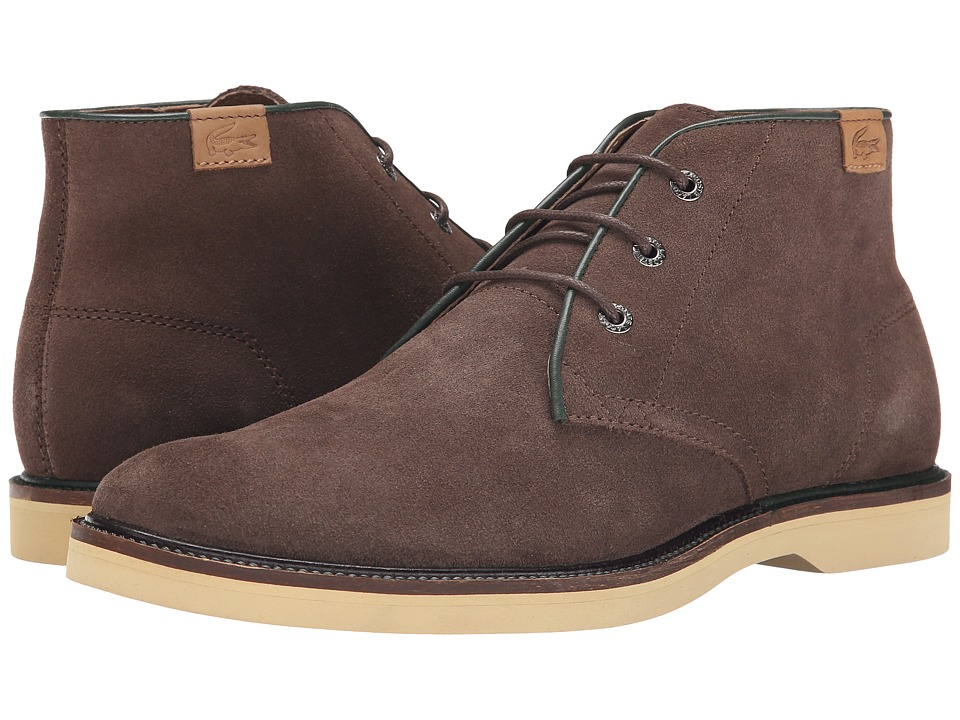 Lacoste - Sherbrooke Hi 14 (Dark Brown) Men's Lace-up Boots