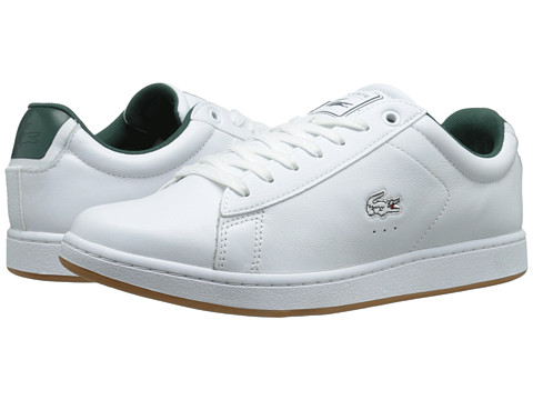 Lacoste - Carnaby Evo Rei (White/White) Men's Shoes