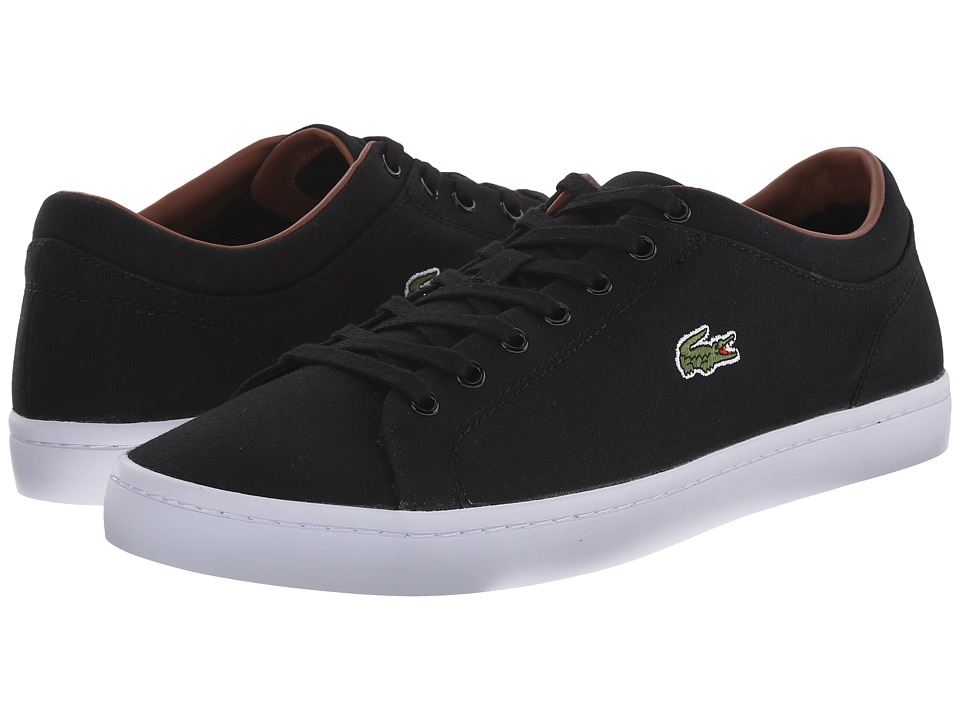 Lacoste - Straightset (Black/Black) Men's Shoes