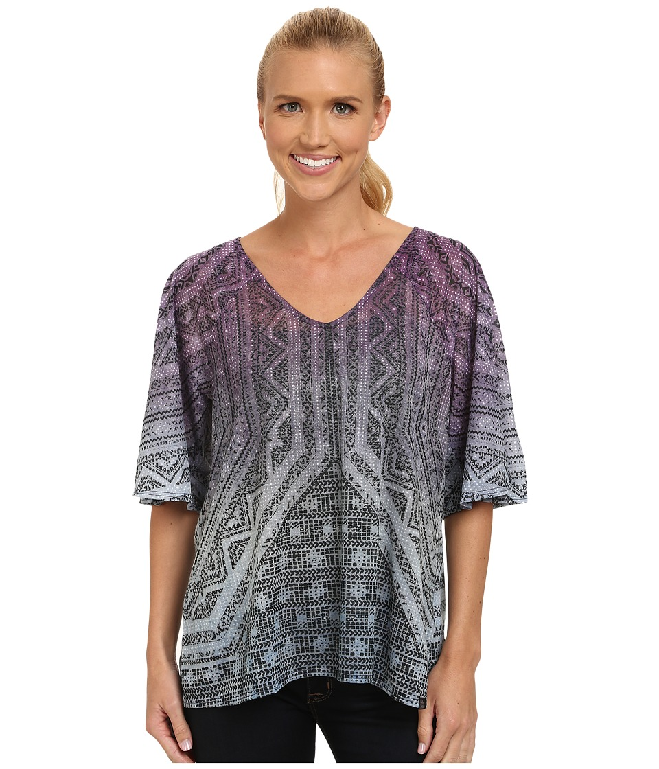 Prana - Romy Top (Purple Tart) Women's Short Sleeve Pullover