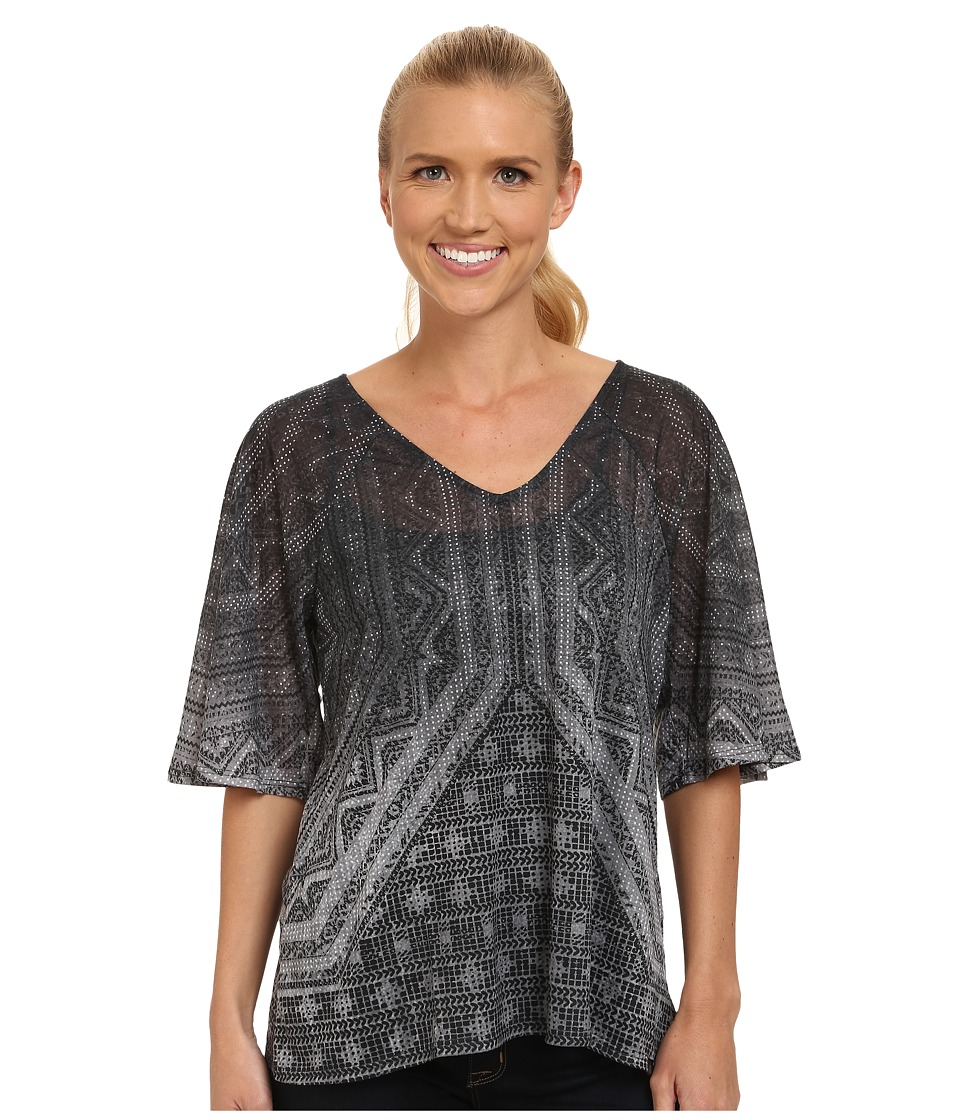 Prana Romy Top (Black) Women's Short Sleeve Pullover