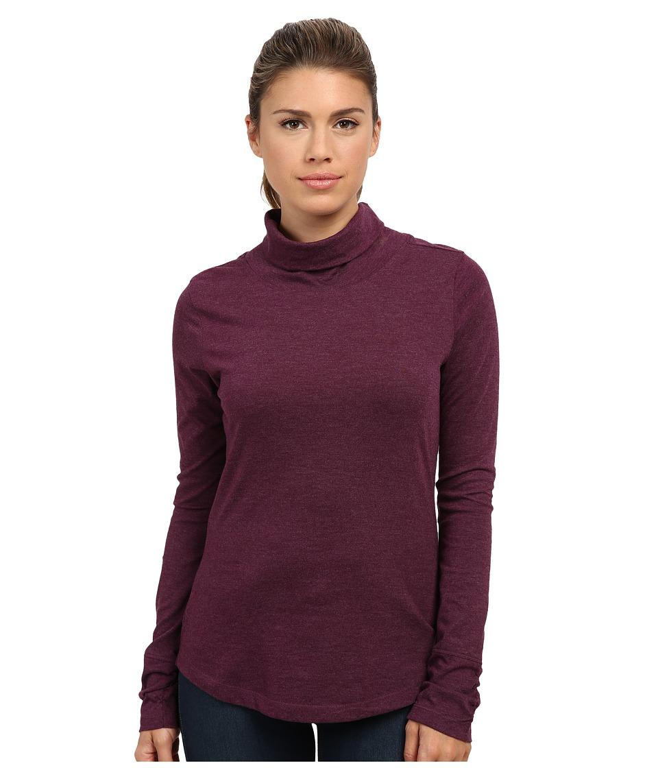 Prana - Taryn Top (Black Plum) Women's Long Sleeve Pullover