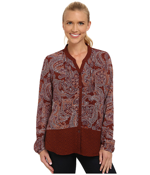 Prana - Evelyn Button Down Top (Henna) Women's Long Sleeve Button Up