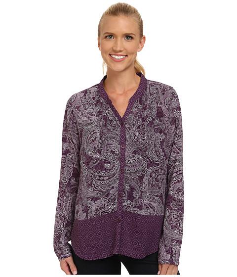 Prana - Evelyn Button Down Top (Purple Tart) Women