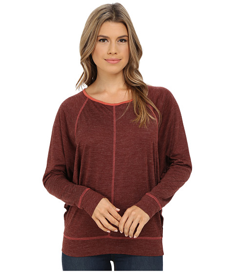Prana - Amanda L/S Top (Raisin) Women's Long Sleeve Pullover