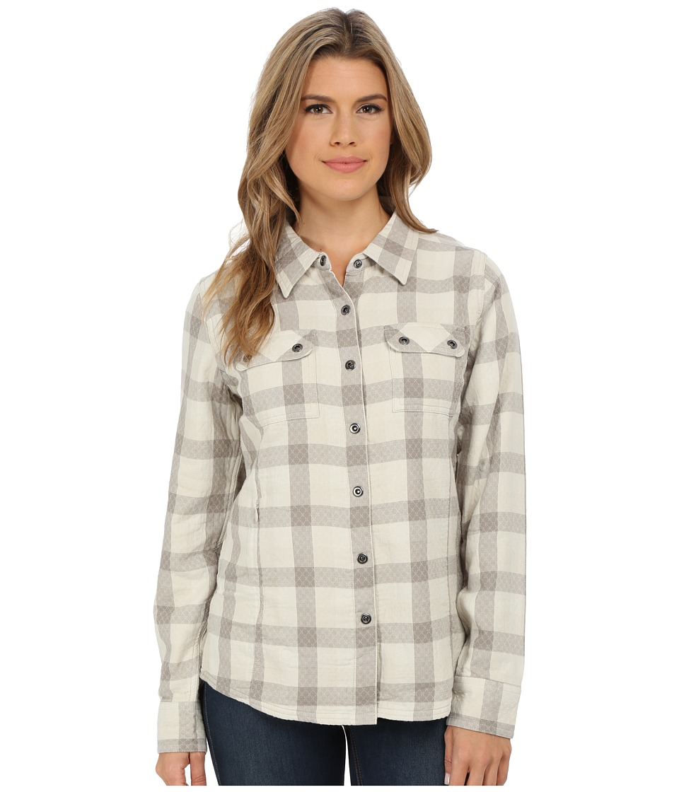 Prana - Bridget Lined Shirt (Stone) Women's Long Sleeve Button Up